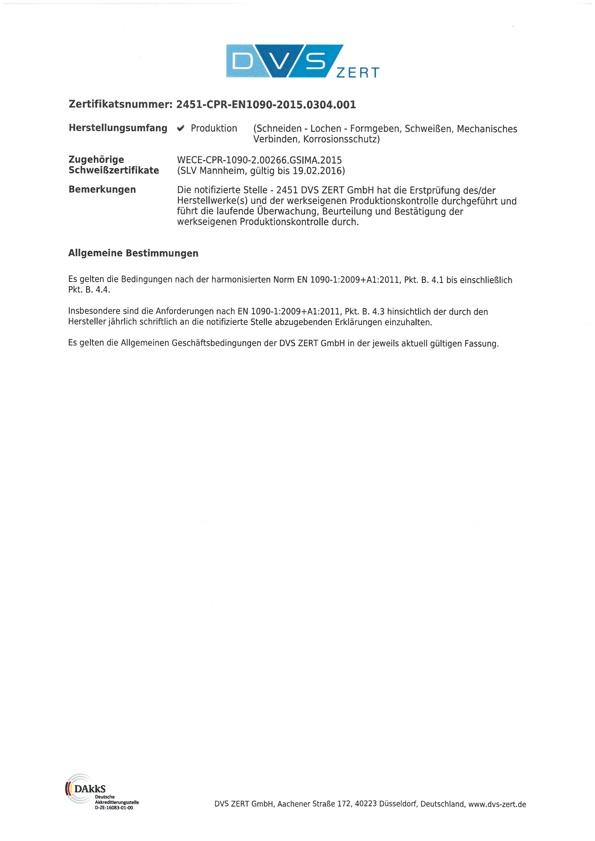 Zertifikat 2451-CPR-EN-1090 2 Karl Henrich Stahl- und Rohrleitungsbau GmbH